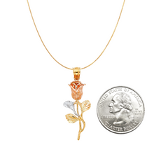 Load image into Gallery viewer, Rose Pendant Necklace