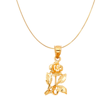 Load image into Gallery viewer, rose necklace 14k gold