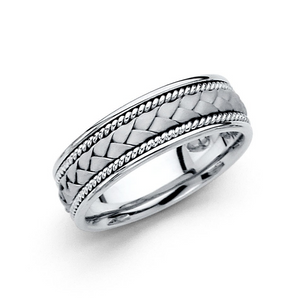 white gold wedding bands