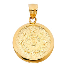 Load image into Gallery viewer, 14K Gold Aztec Medallion Pendant