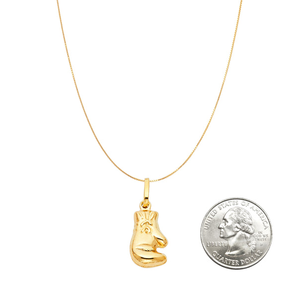 14K Gold Boxing Glove Pendant