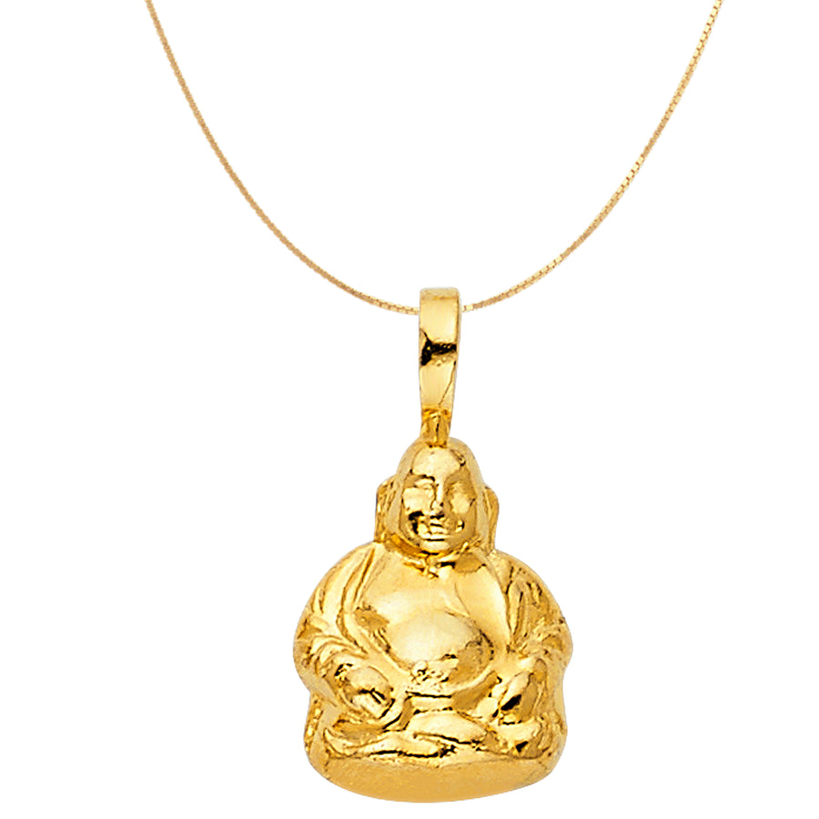 Buddha Zen Necklace 14k Gold