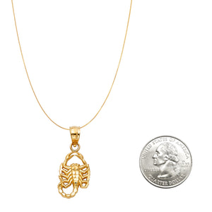 14k Gold Scorpion Zodiac Necklace