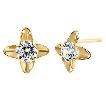 Louie Flower Stud Earrings | 14K Gold