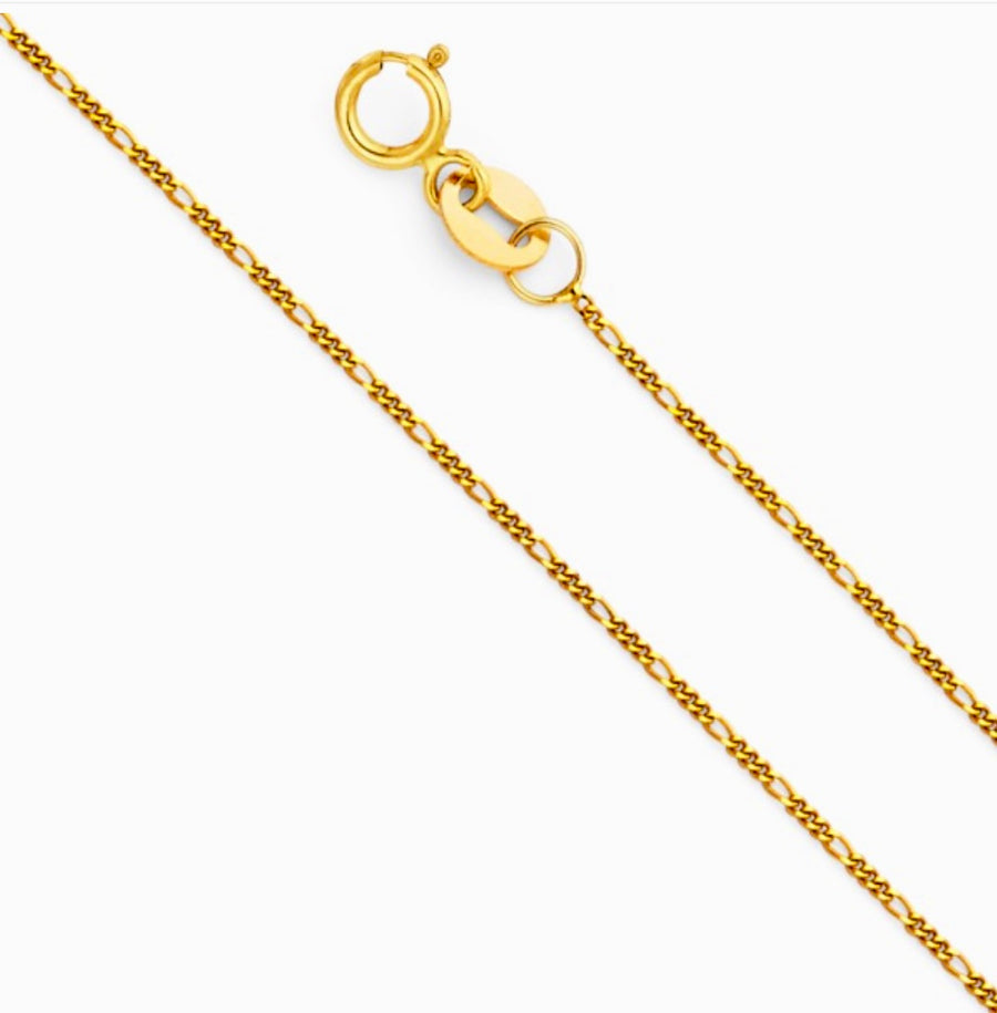 Figaro Choker Necklace 14KT Yellow Gold