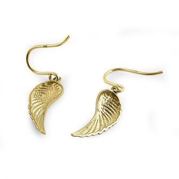 Angel Wings Earrings - 14K Gold