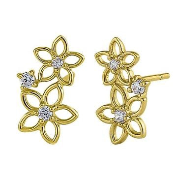 May Flowers Bloom Earrings | 14K Gold