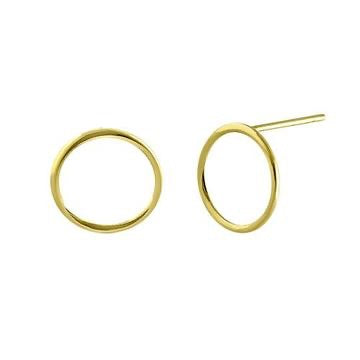 Minimal Full Circle Earrings | 14K Gold