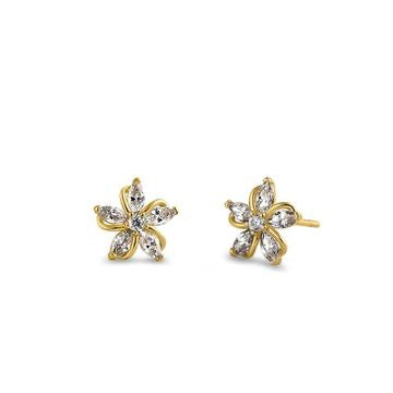 Lilly CZ Stone Earrings | 14K Gold