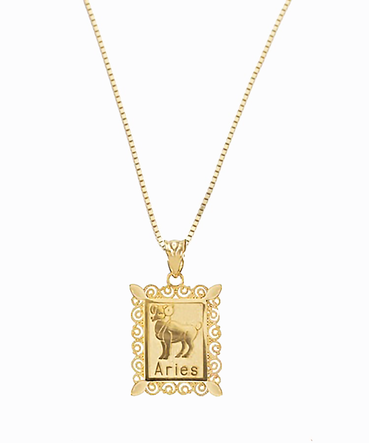 Aries Birthday Pendant | 10K Gold & 14K Gold