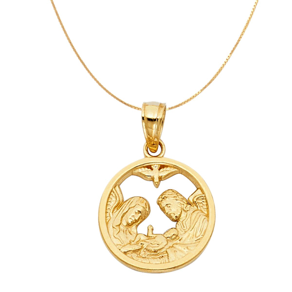 Godchild 14k Gold Baptism Necklace