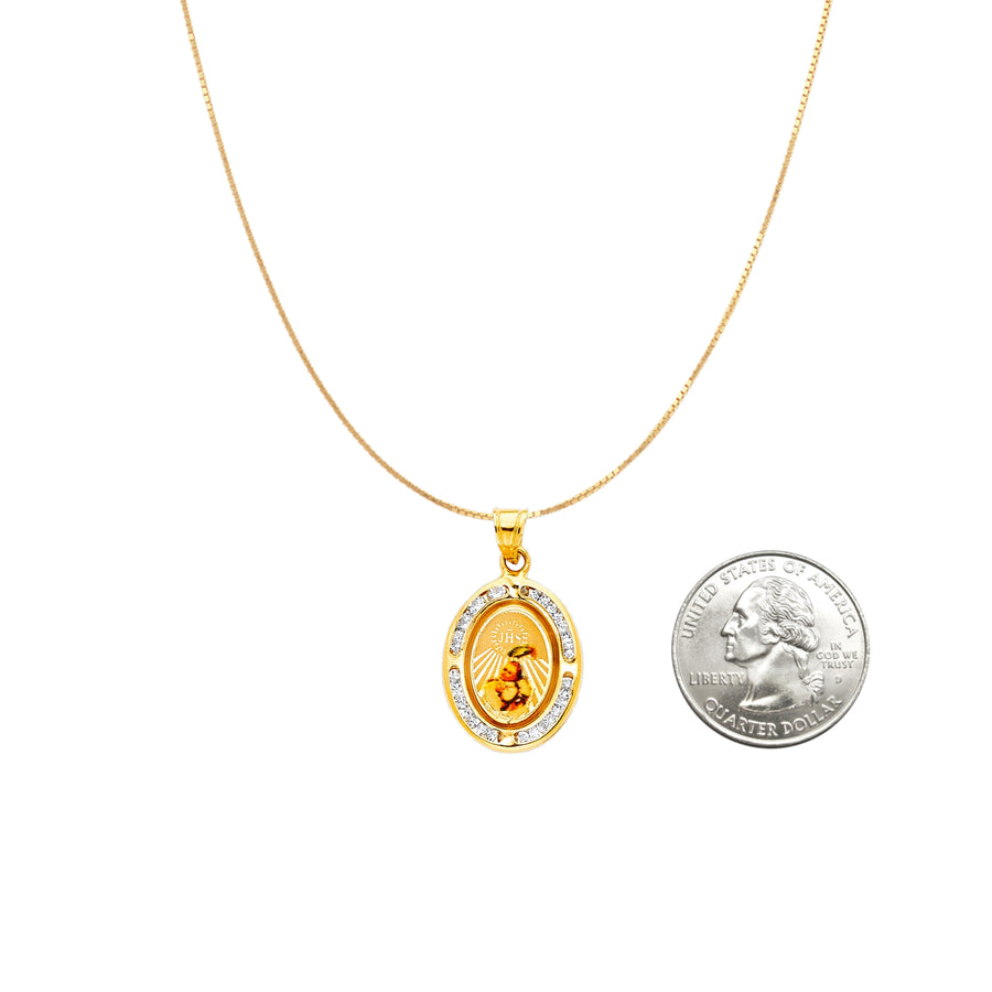 Baptism Medallion Gold