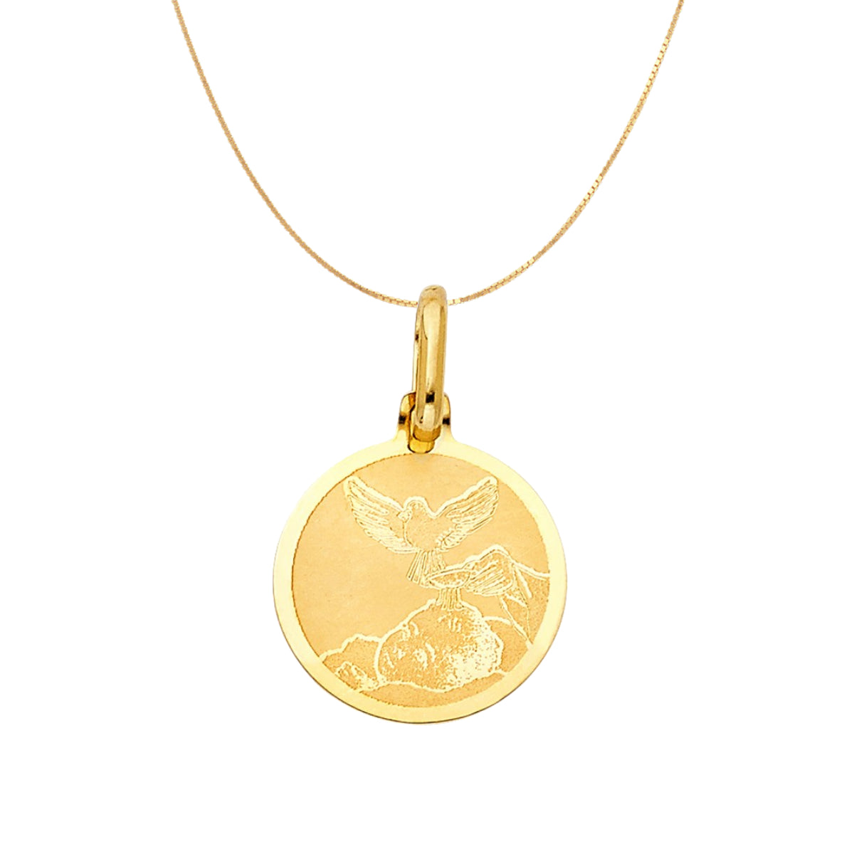 14K Solid Yellow Gold Simple Baptism Gift