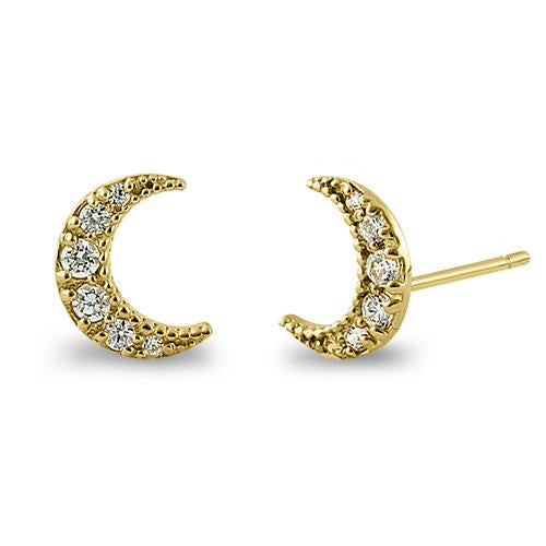 Luna Moon Earrings |14K Gold