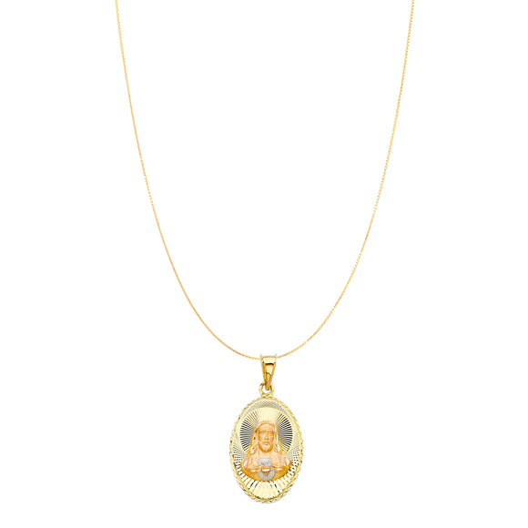 Good Lord Chain Necklace -14K Solid Yellow Gold