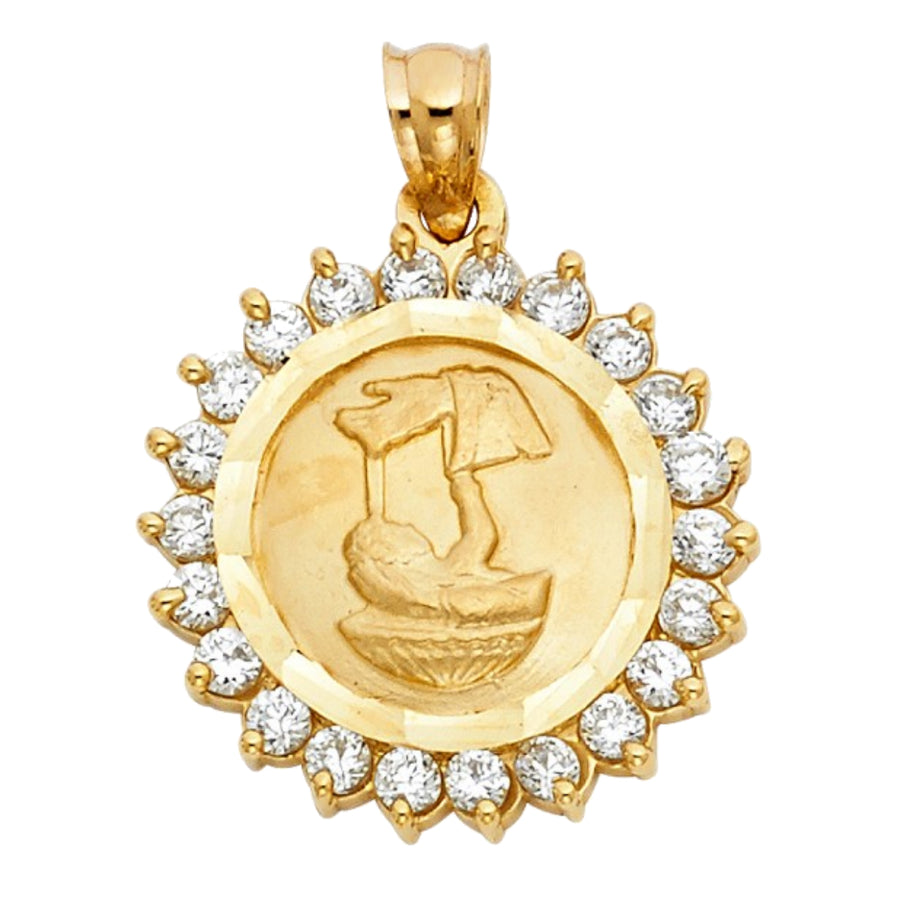 14K Gold Christening Medal