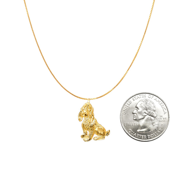 cocker spaniel pendant necklace