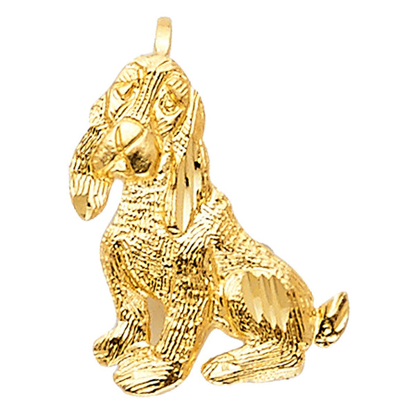 Gold Cocker Spaniel dog pendant
