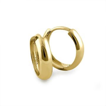 14K Gold Huggie Hoop Earrings