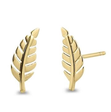 Feather Earrings | 14K Gold