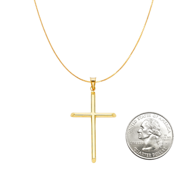 14 karat gold cross