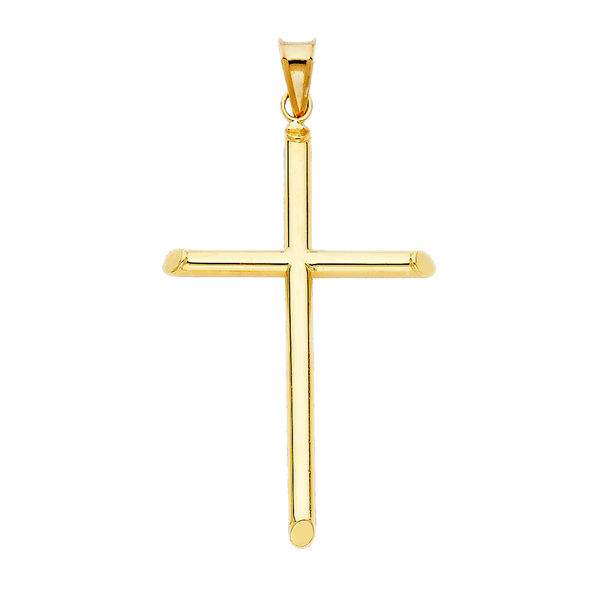 Dainty cross 14k solid yellow gold