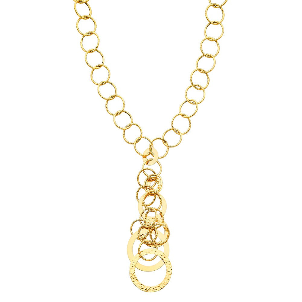 14K Solid Yellow Gold Links Necklace