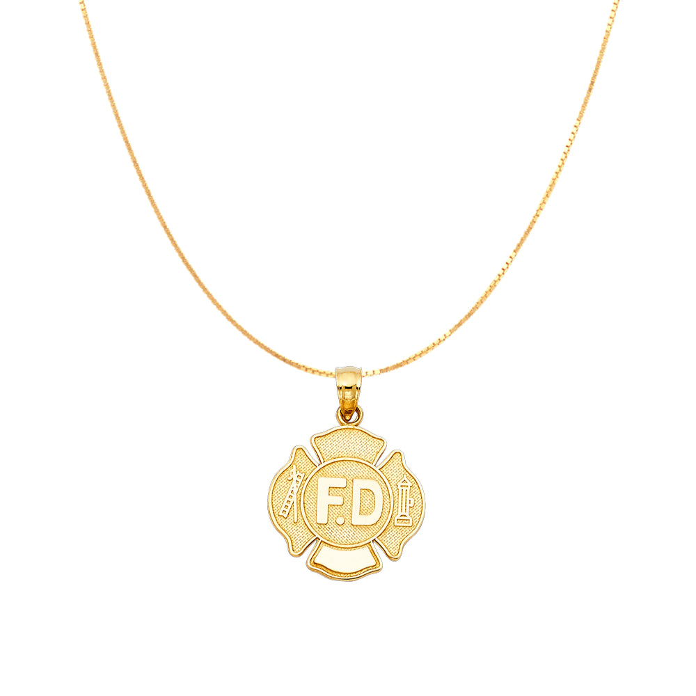 Gold FD Badge Necklace Chain