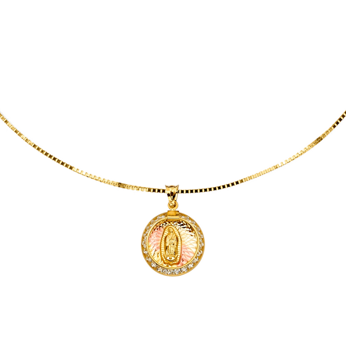 Lady Of Guadalupe Choker - 14K Solid Yellow Gold