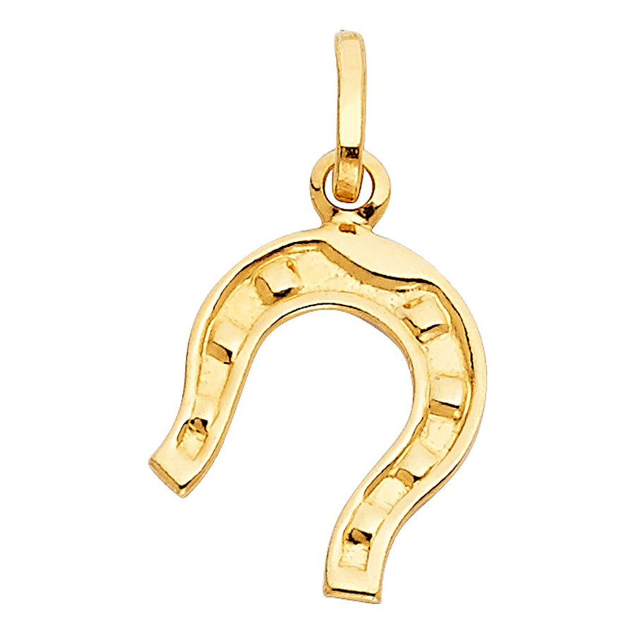 14k Gold Horseshoe pendant