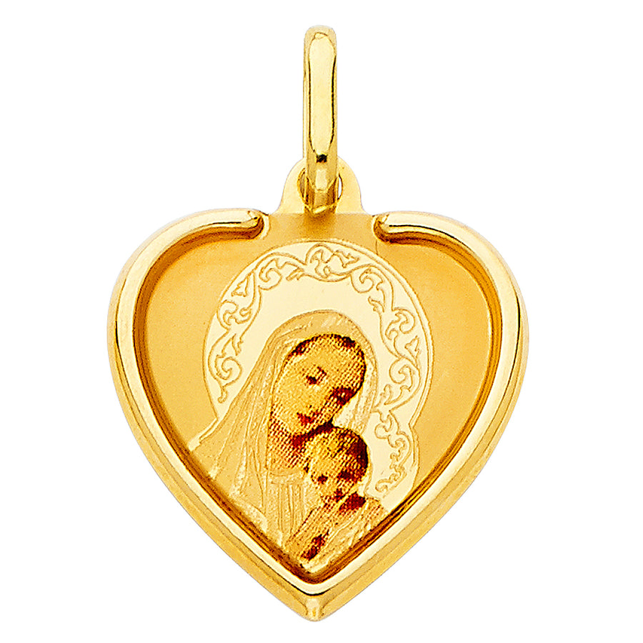 Virgin Mary Madonna Pendant made from real gold