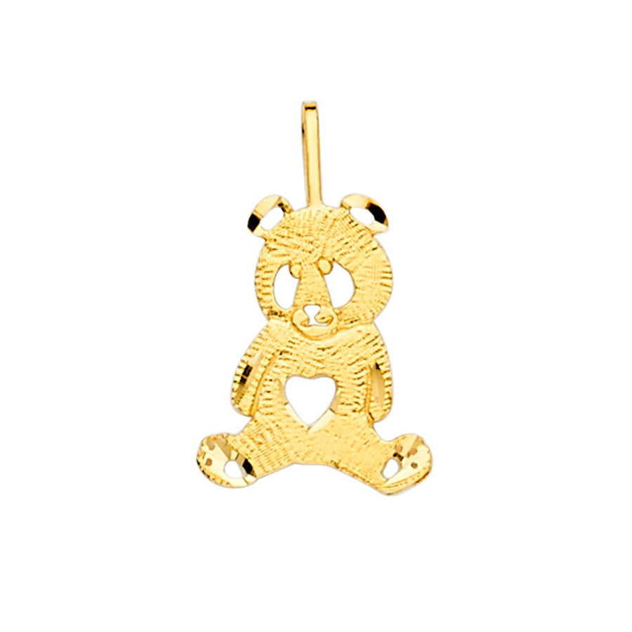 Panda Bear Pendant - 14K Solid Yellow Gold