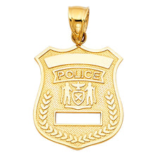 Load image into Gallery viewer, Police Pendant 14k Gold
