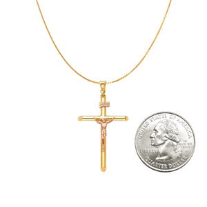 Real Gold Cross Pendant Chain