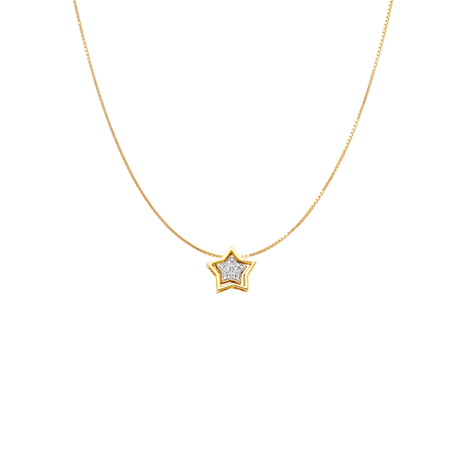 Star Charm Necklace- 14K Gold