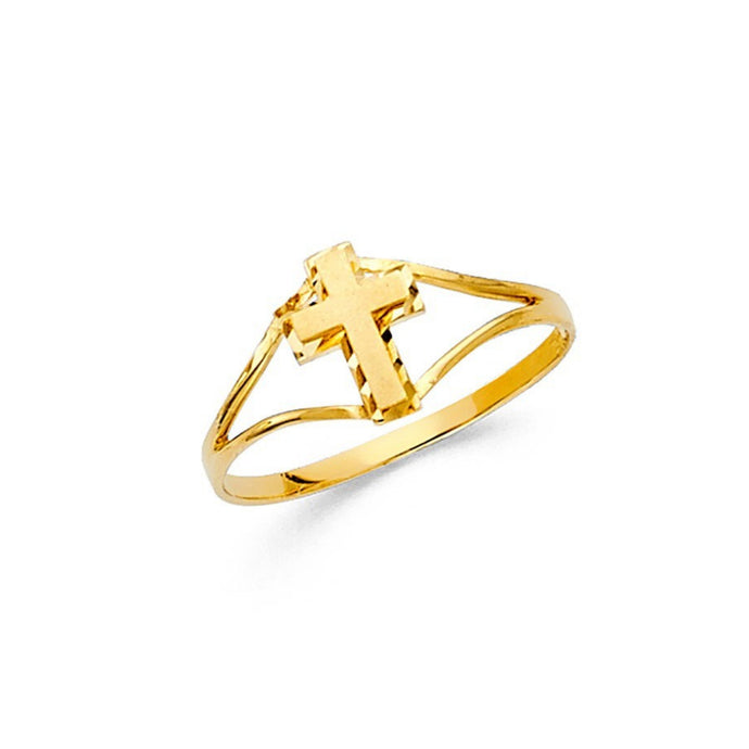 Sacred Cross 14K Gold Baby Ring