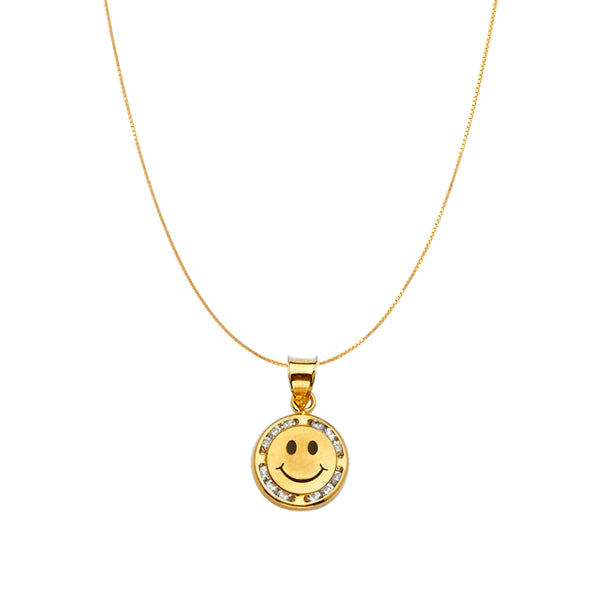 Gold Happy Face Necklace