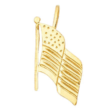 Load image into Gallery viewer, American Flag Jewelry made from real gold
