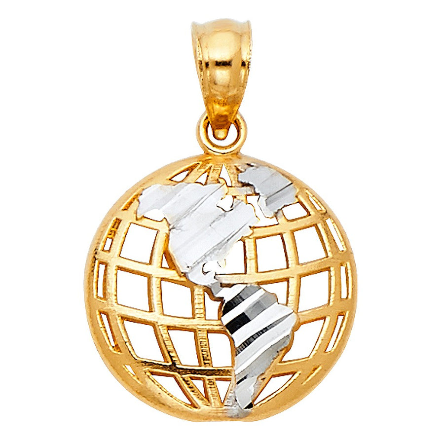 Gold World Globe Pendant Necklace