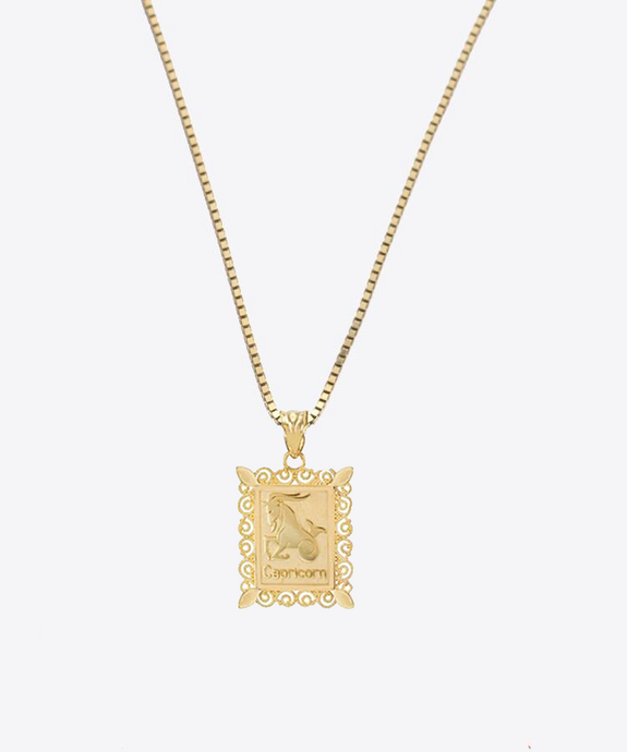 Capricorn Birthday Pendant | 10K Gold & 14K Gold