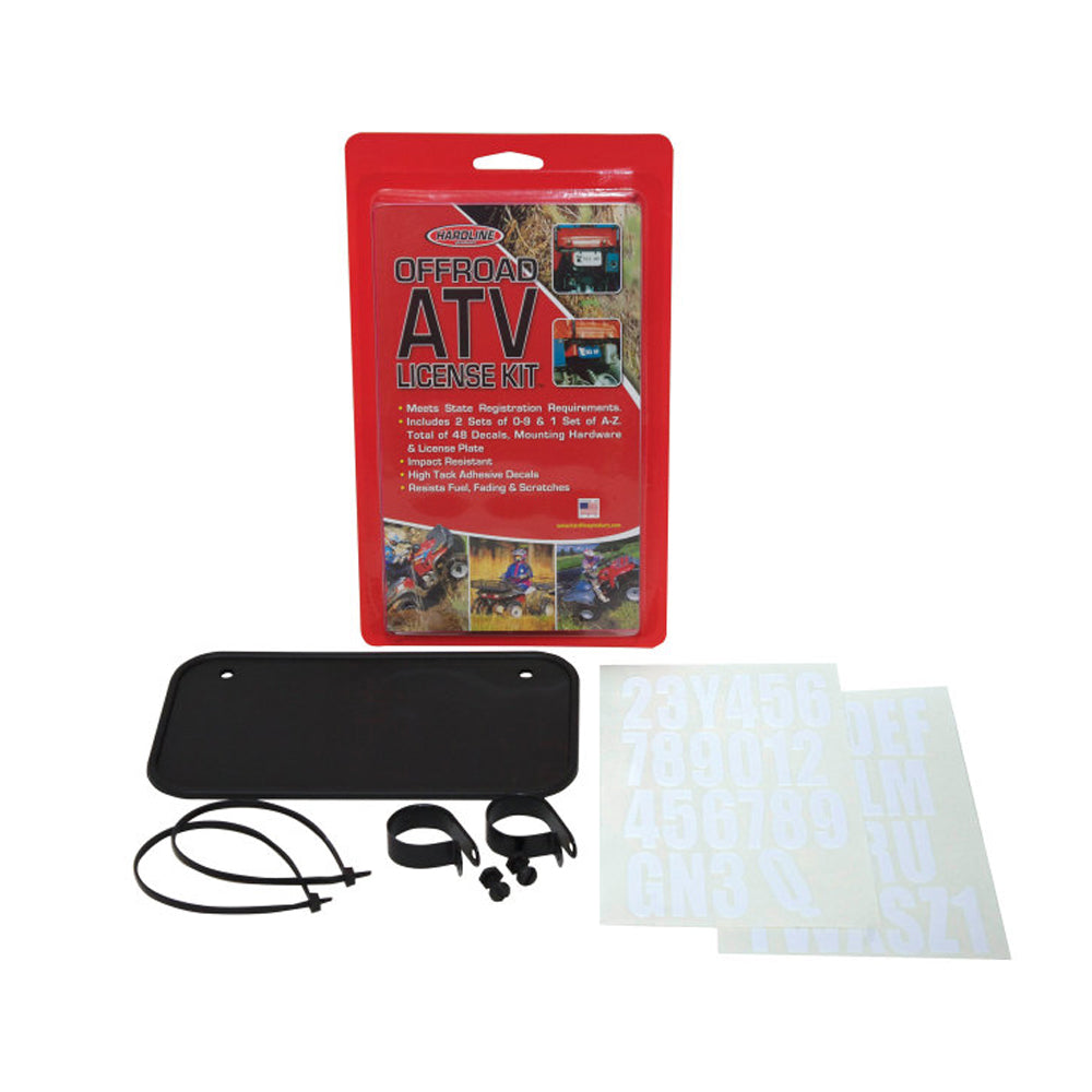 ATV Black License Kit