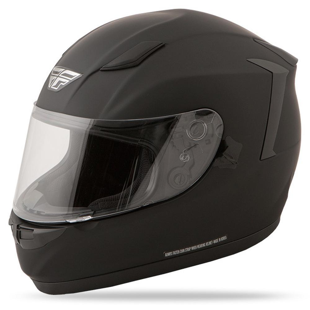 Conquest Helmet DOT & ECE Street Helmet Fly Racing XS FLAT BLACK Full Face