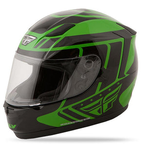 Conquest Helmet DOT & ECE Street Helmet Fly Racing XS GREEN Full Face