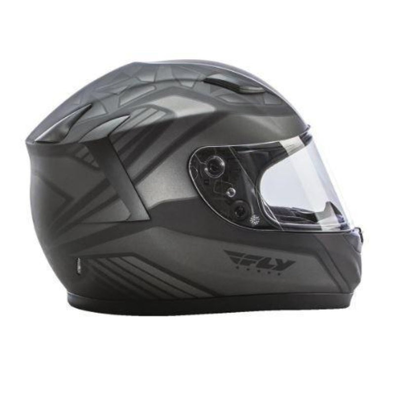 Conquest Helmet DOT & ECE Street Helmet Fly Racing XS GREY Full Face