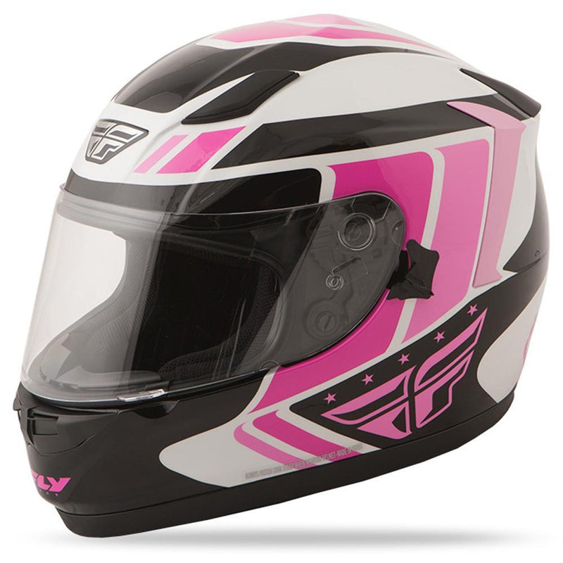 Conquest Helmet DOT & ECE Street Helmet Fly Racing XS PINK Full Face
