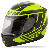 Conquest Helmet DOT & ECE Street Helmet Fly Racing XS YELLOW Full Face