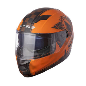 FF328 Stream Fan Helmet Street Helmet LS2 Helmets XS ORANGE Full Face