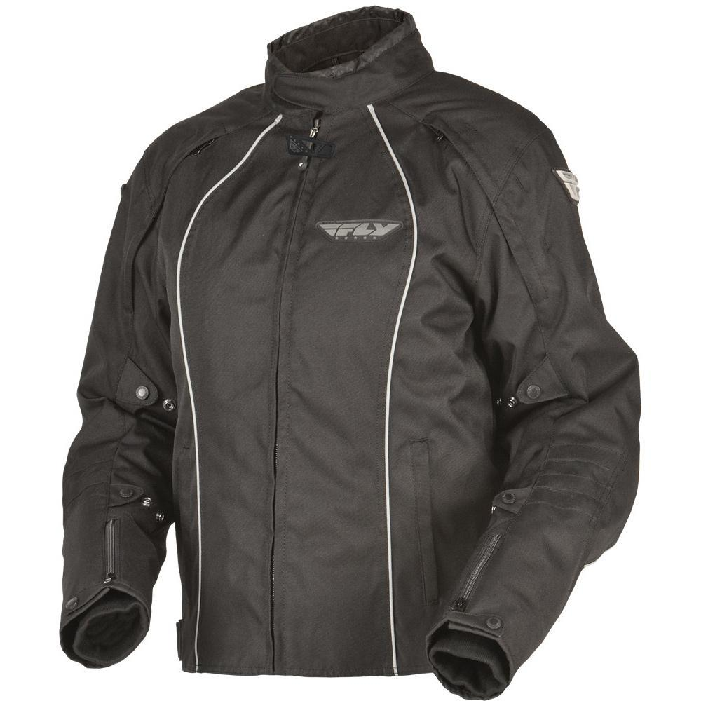 Ladies Georgia II Jacket Street Jacket Fly Racing XS BLACK TEXTILE