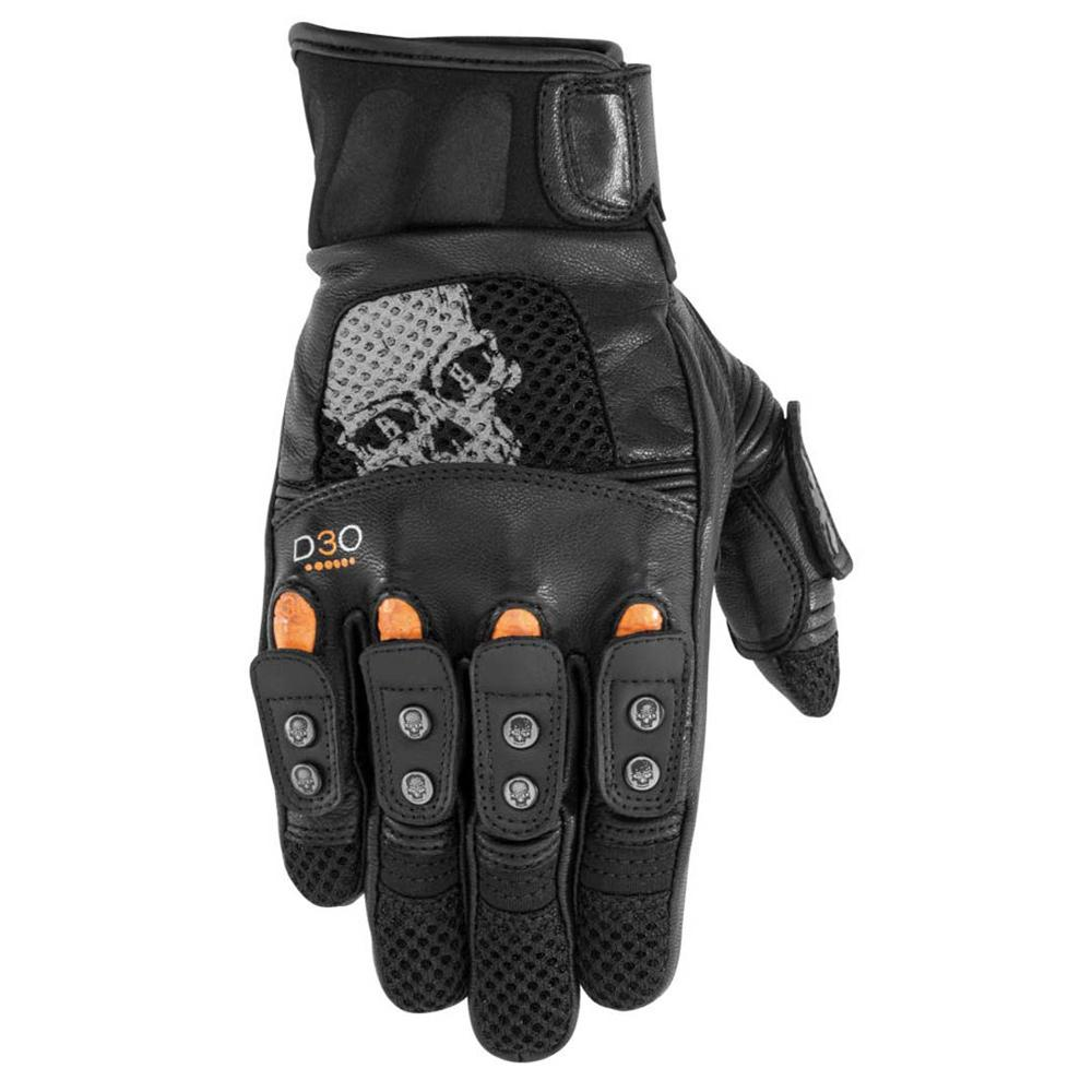 Mirror Buster Leather Glove Street Glove Black Brand SM BLACK