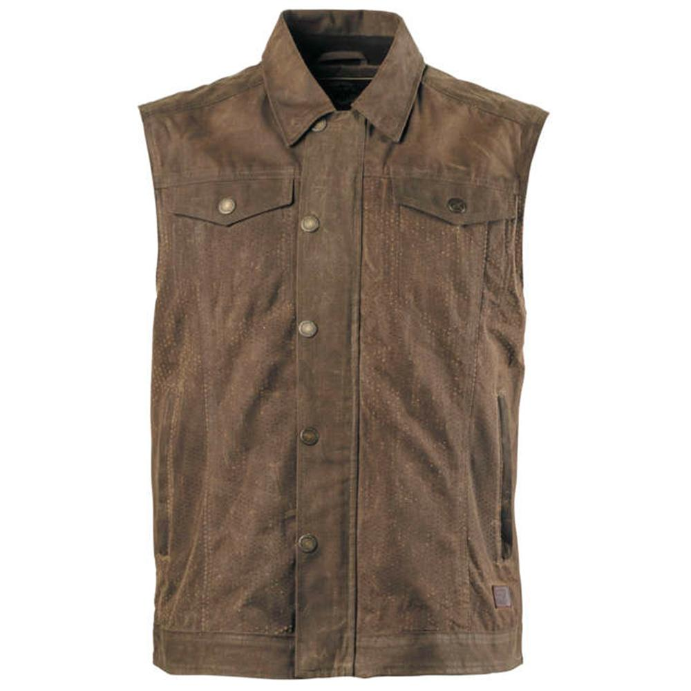 Ramone Perforated Vest Street Jacket Roland Sands Design SM BROWN MENS